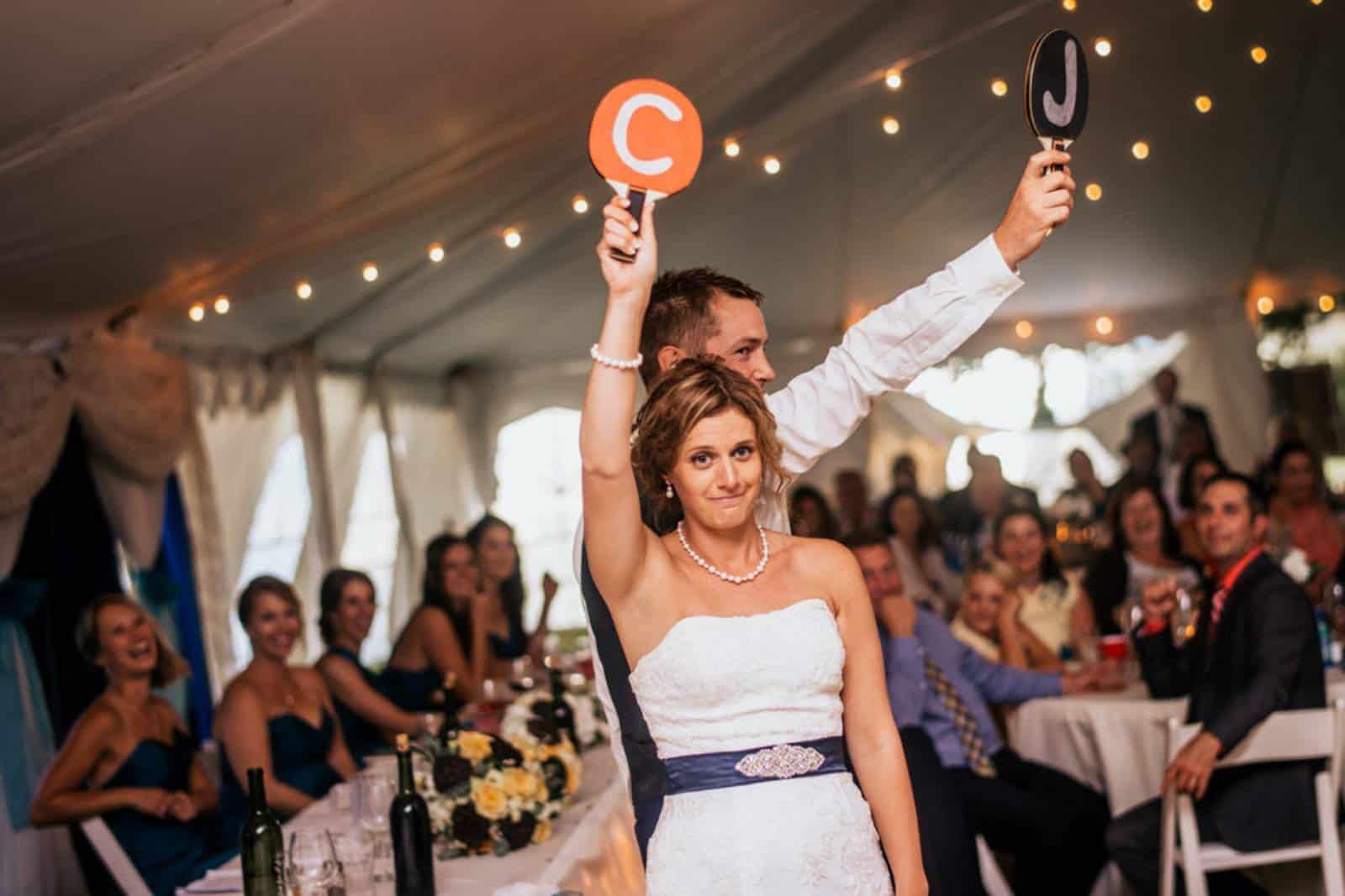 Hochzeitsschuhe Spiel Bräutigam und Braut