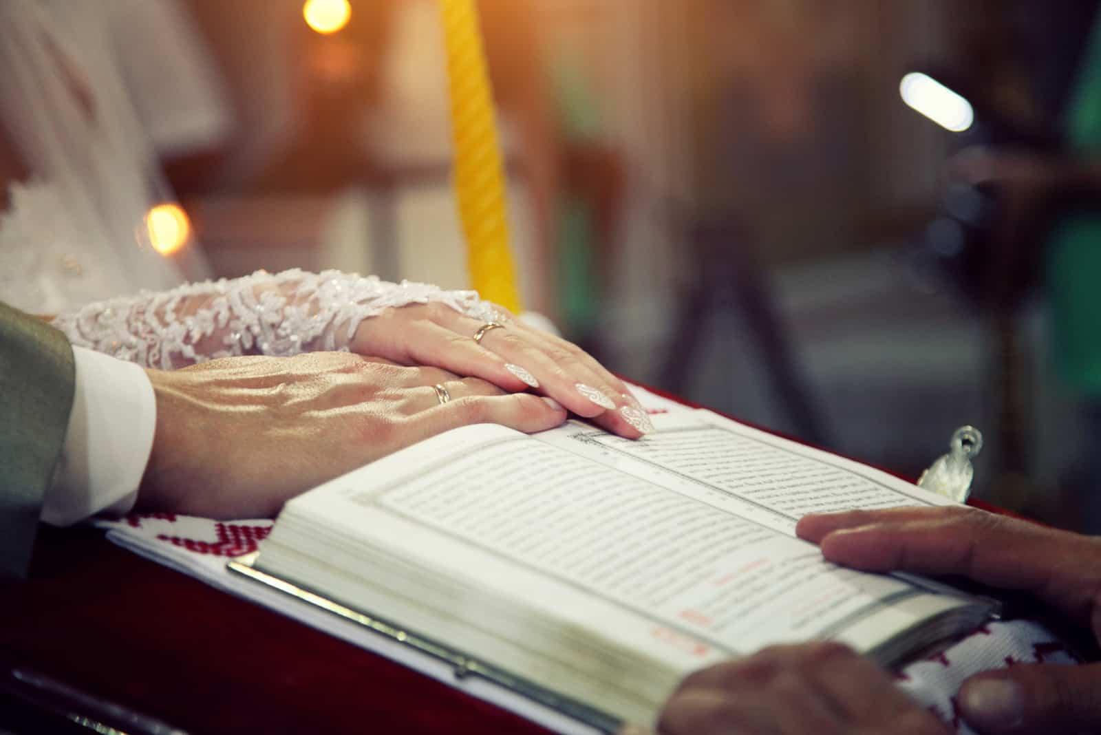 Eheversprechen in der Kirche
