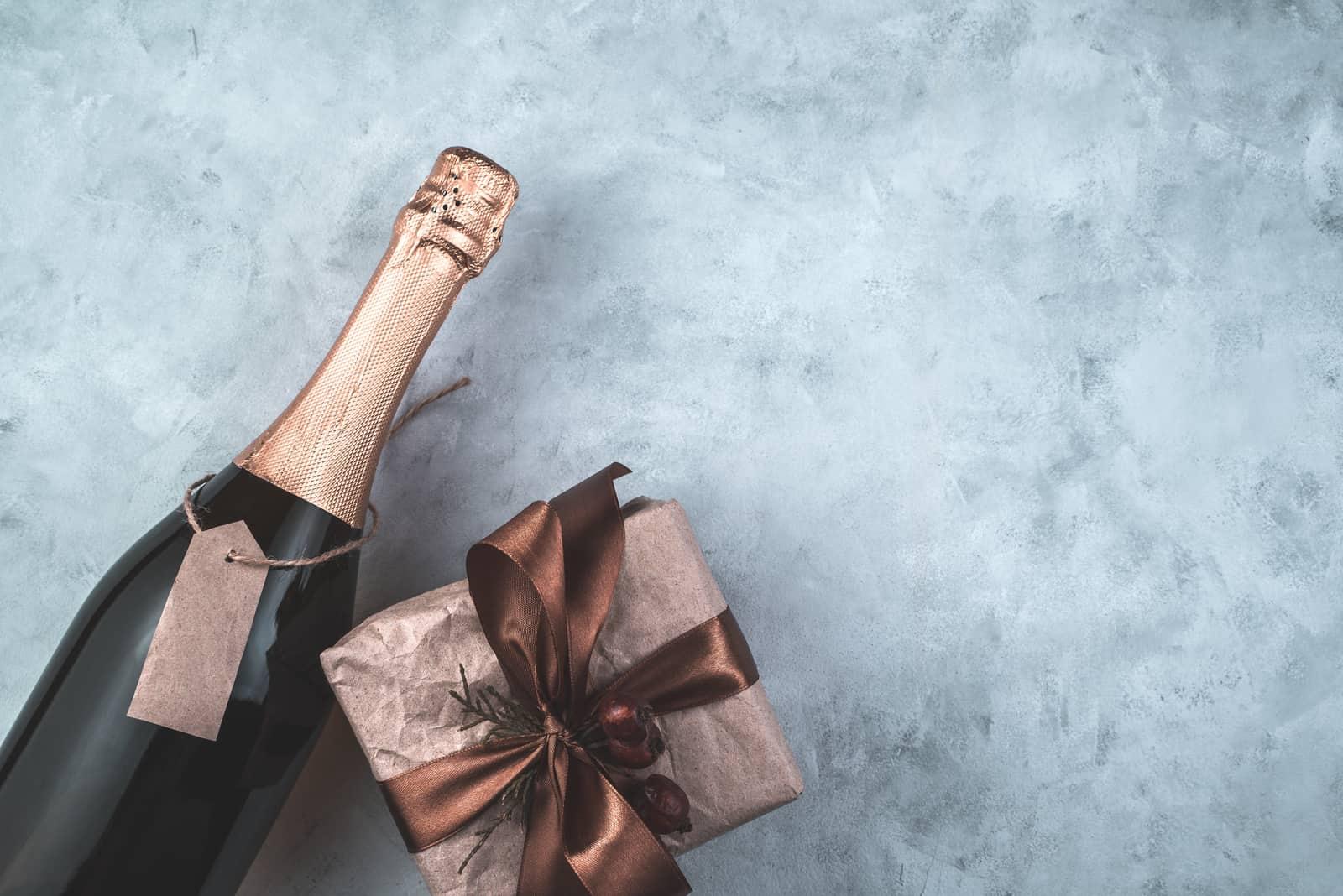 Flasche als Einladung