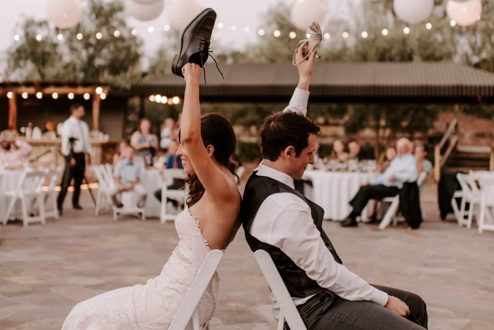 Schuhspiel für Bräutigam und Braut