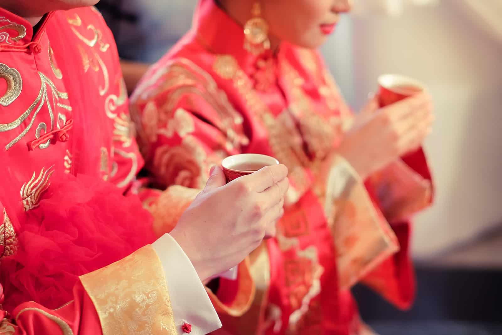 chinesische Hochzeitskultur im neuen Jahr