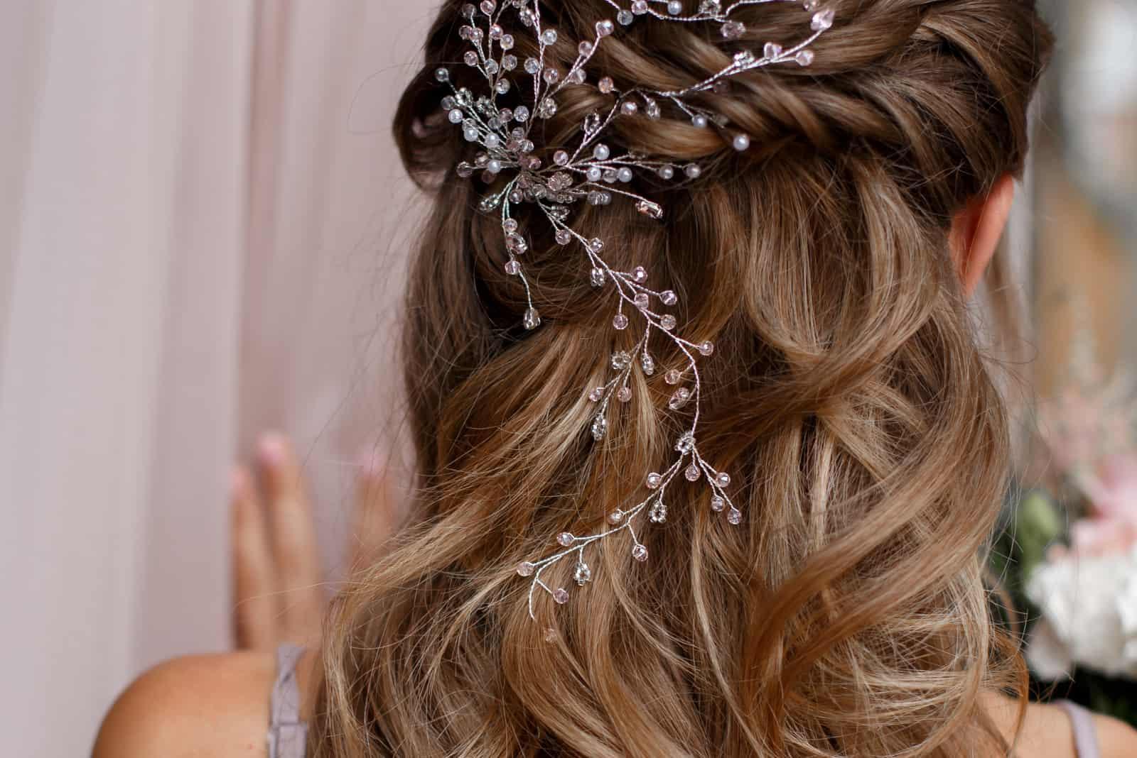 handgemachte Frisur für die Braut