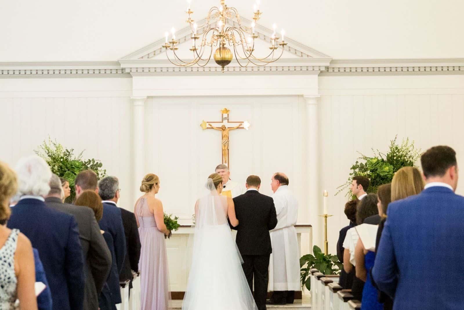 katholische Hochzeit in der Kirche