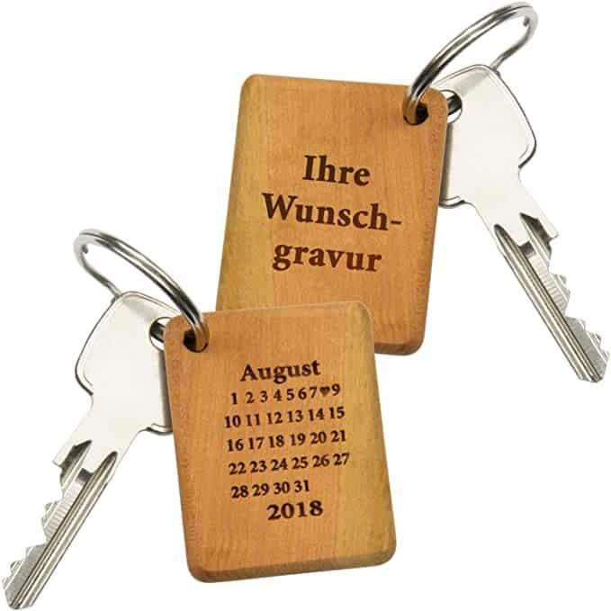 Schlüsselanhänger Holz mit Gravur