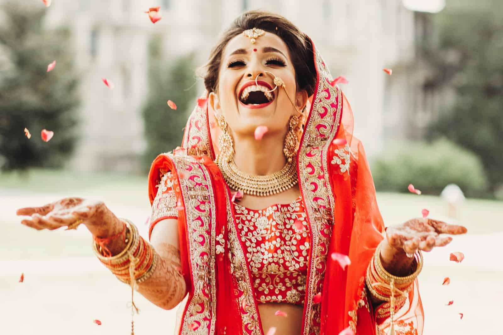 Atemberaubende indische Braut