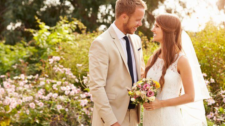 schönes Brautpaar
