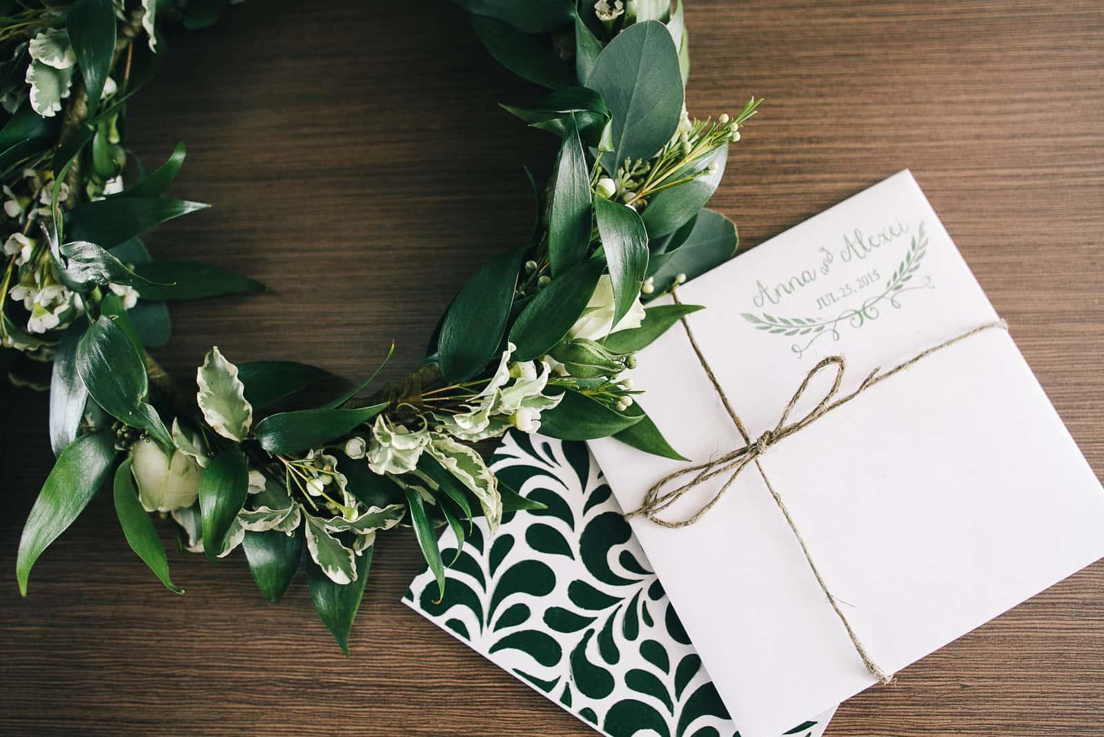 Einladungskarte für die Hochzeit