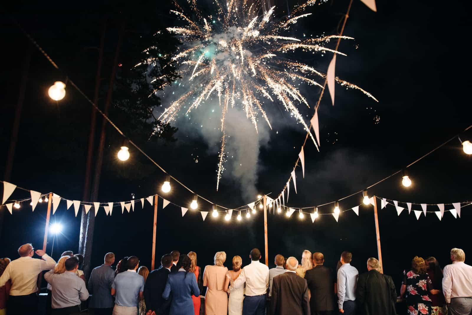 Feuerwerk bei der Hochzeit