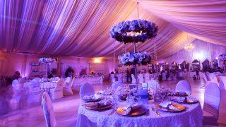 dekorierter Hochzeitssaal