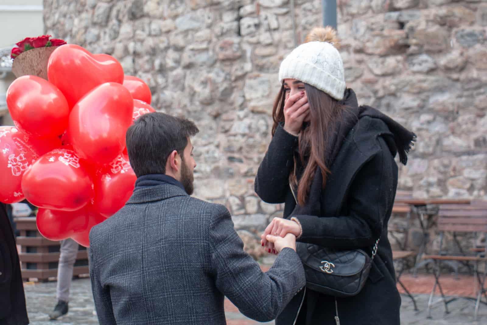 Heiratsantrag im Galata Tower