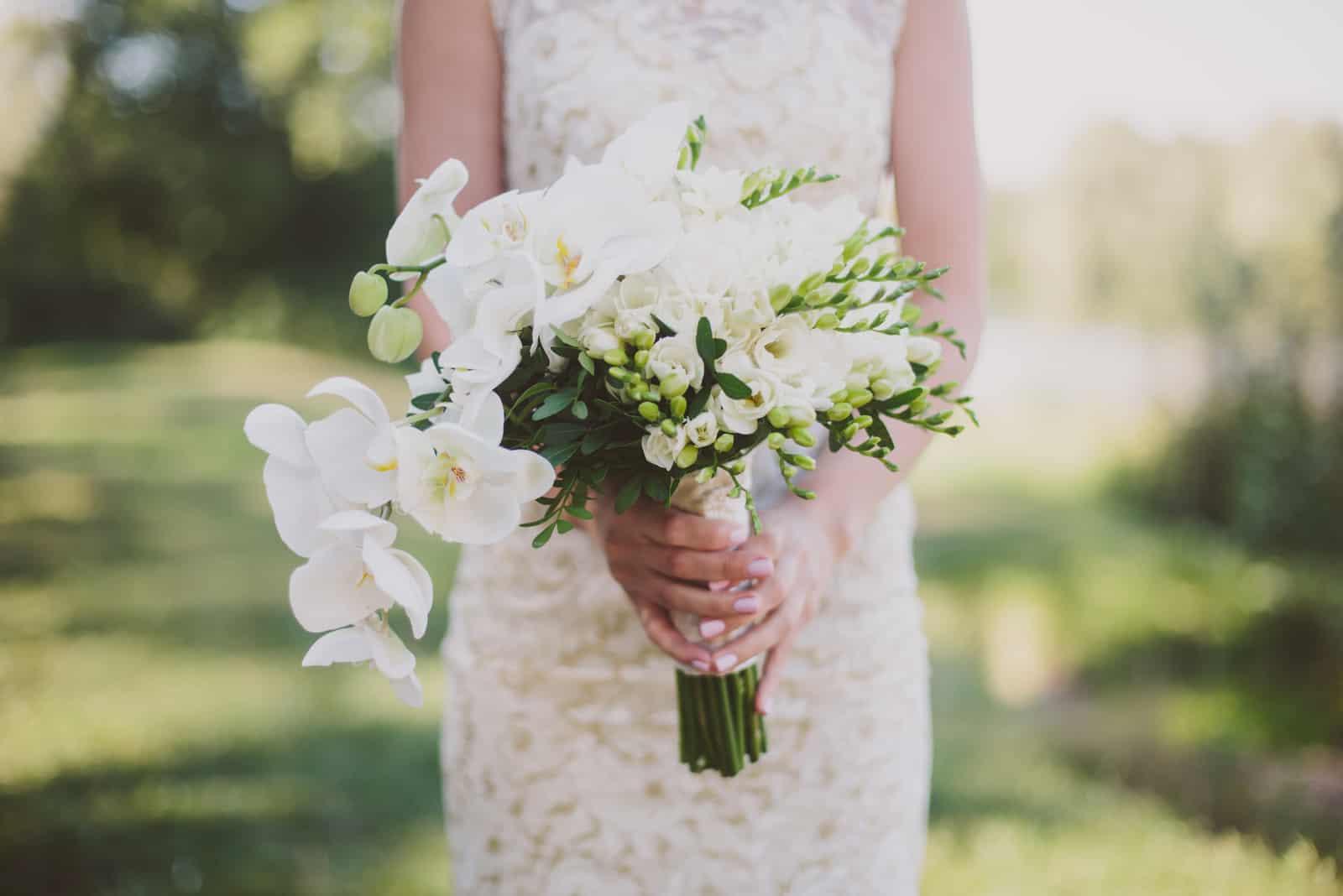 Hochzeitsstrauß von Orchideen