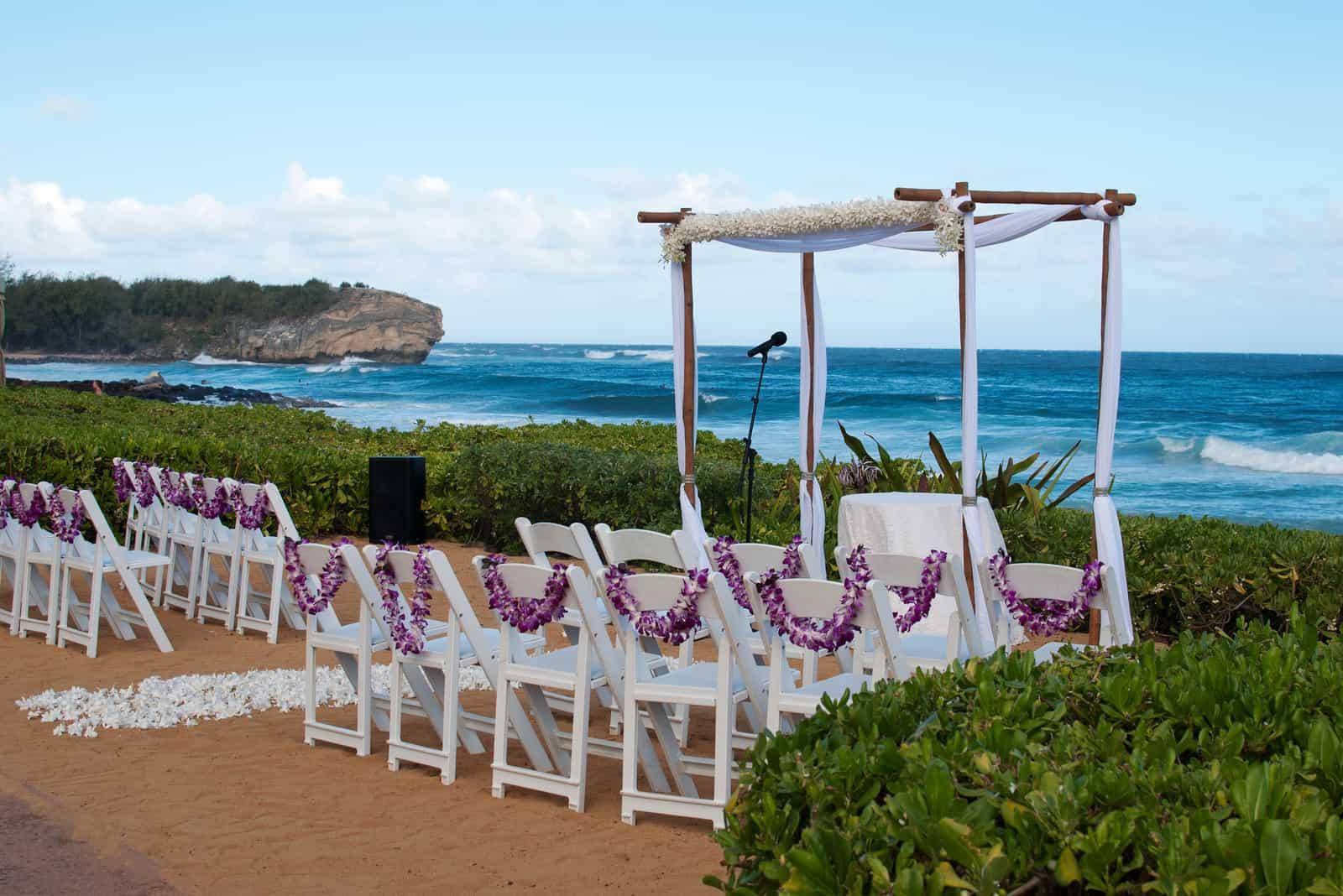 Schöne hawaiianische Hochzeit