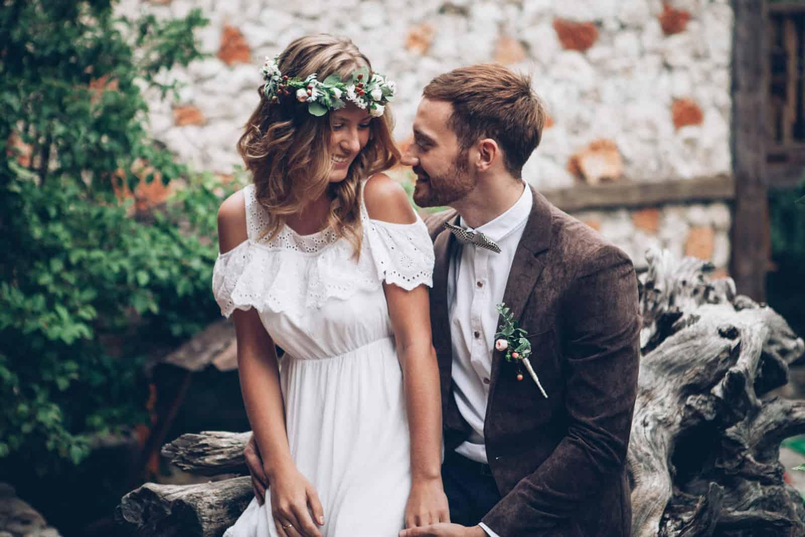 Sehr schöne Hochzeit eines erstaunlichen Paares