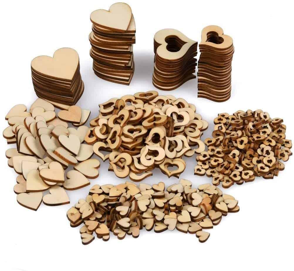 YANSHON 400 STK Holzscheiben Deko zum Basteln