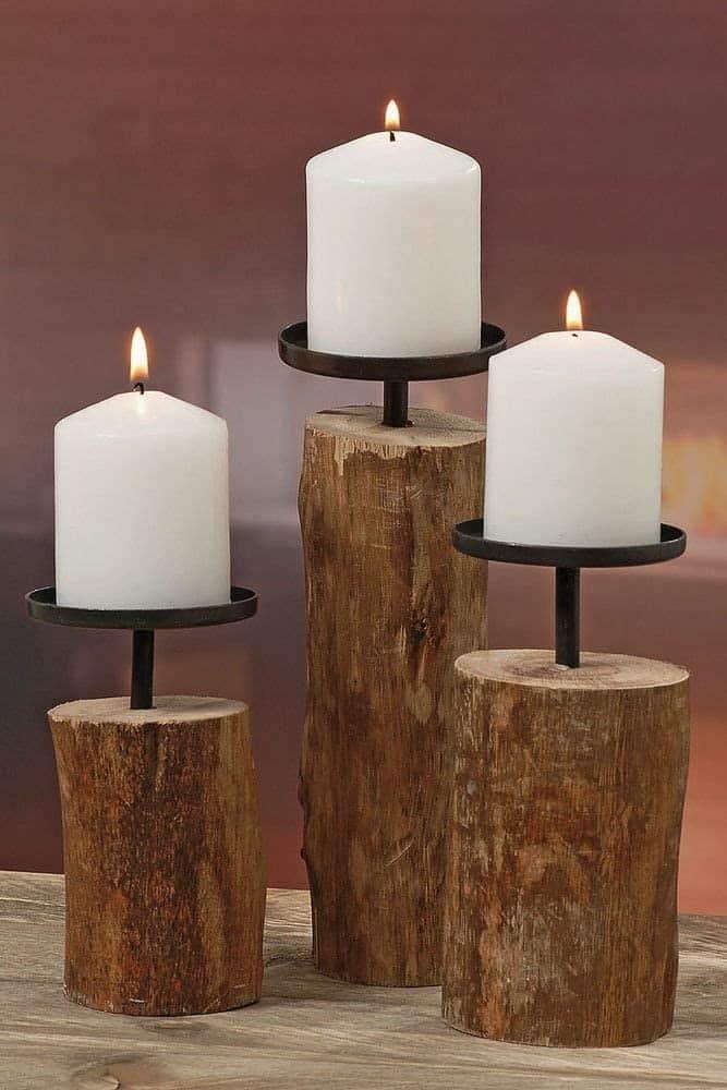 3er Set Kerzenleuchter Tempe