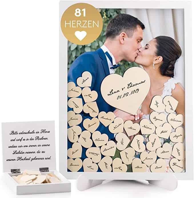 Fairytale Wedding Gästebuch Hochzeit inkl. 81 Herzen
