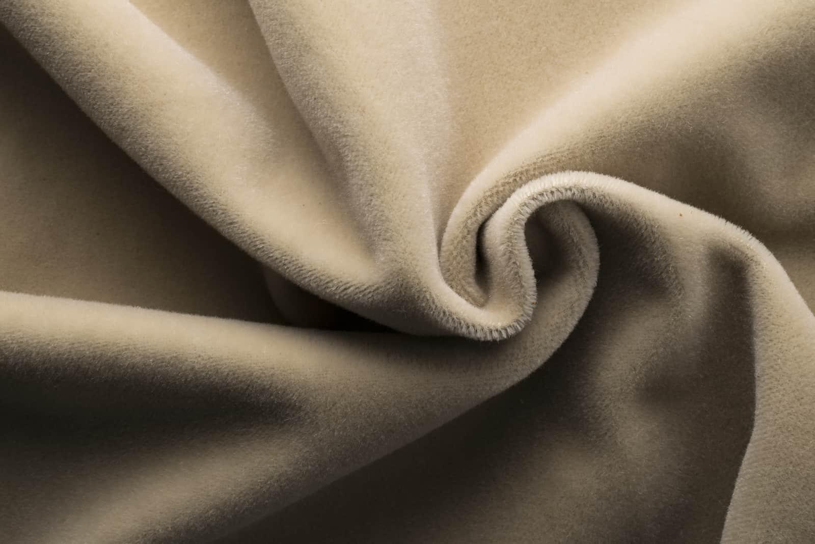 Teuer Veloursbeige Stoff, Kaschmir Textil