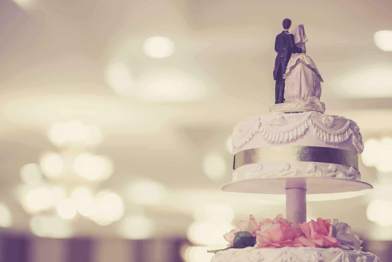 eine schöne Hochzeitstorte