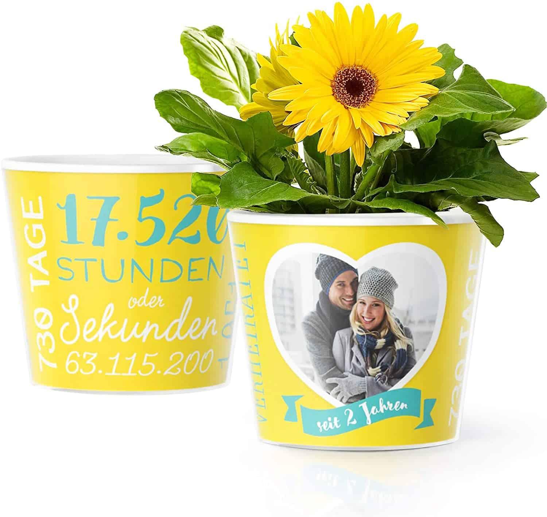 Facepot Store 2. Hochzeitstag Geschenk, Blumentopf