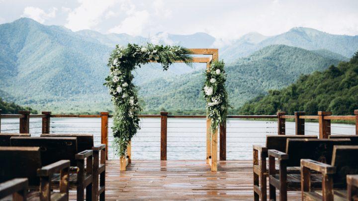 Hochzeitszeremonie am See