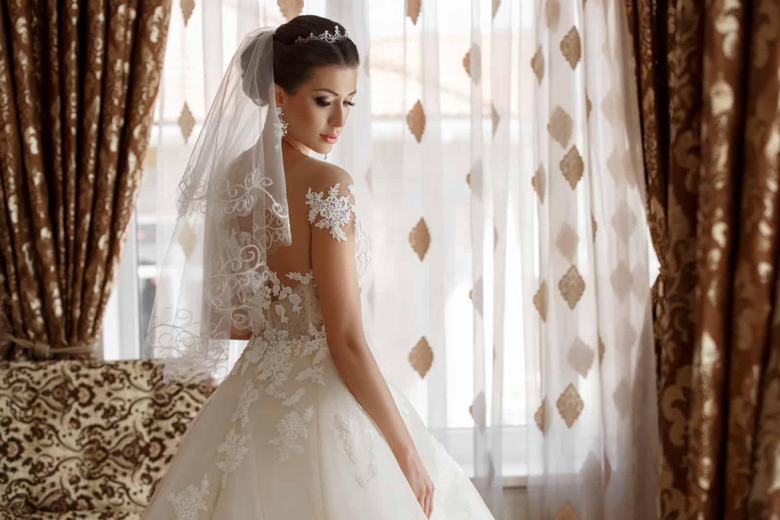 Schönes Brautporträt