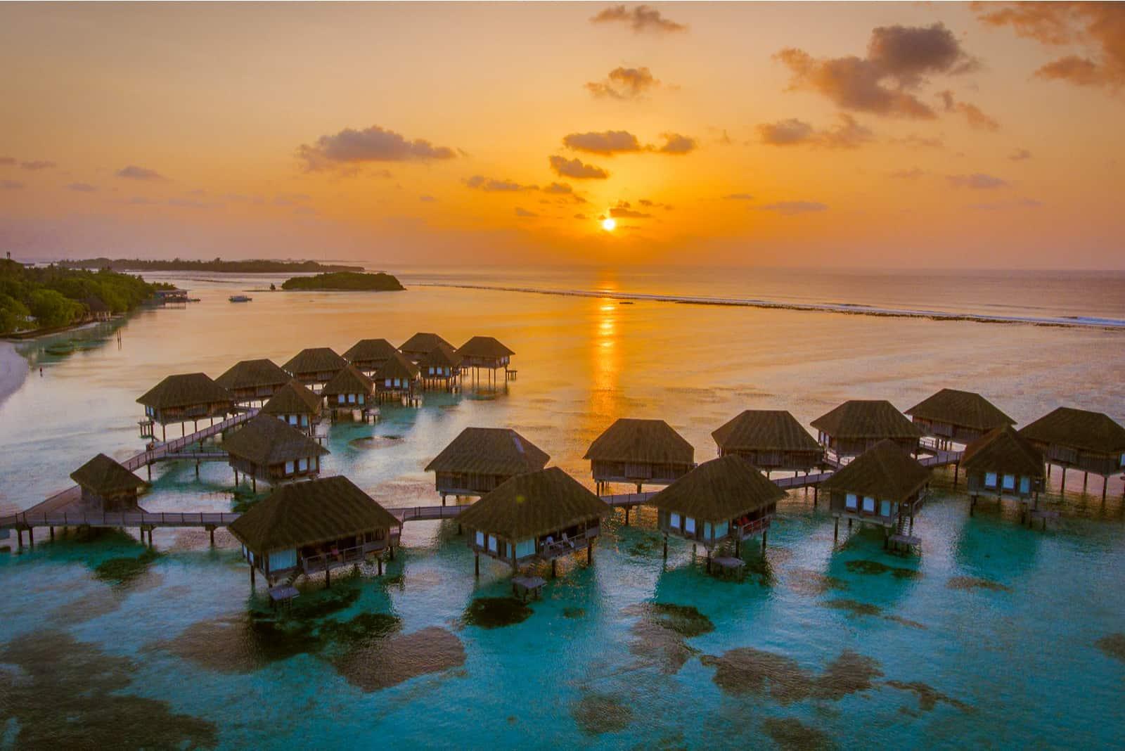 Vogelperspektive auf den Malediven