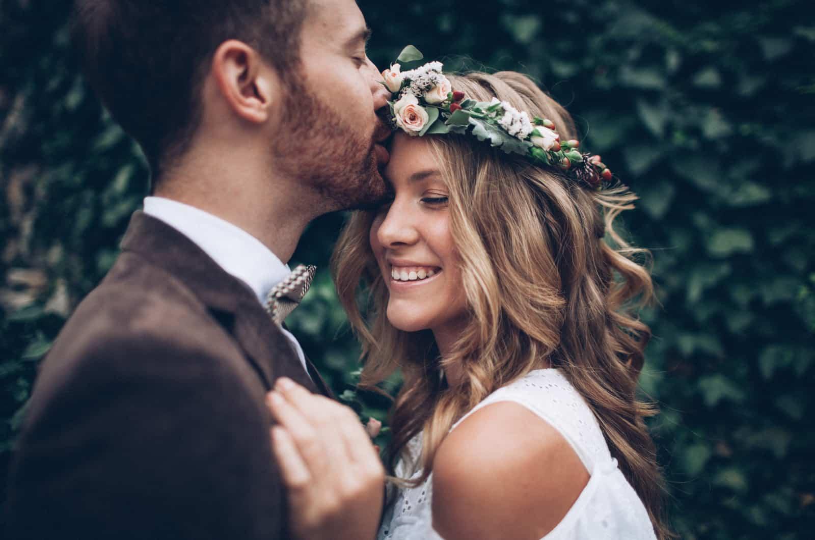 Hochzeitspaar fotografiert
