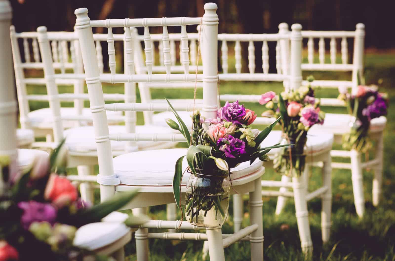 Stuhldeko bei der Hochzeit