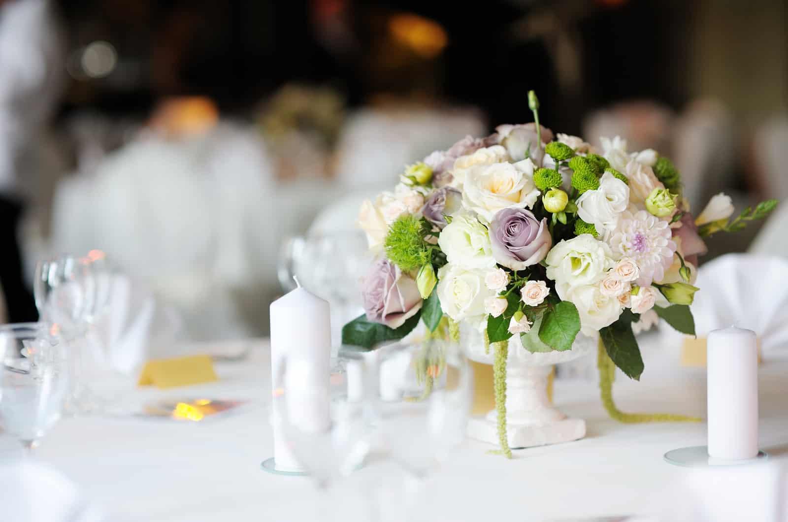 Tischdeko bei der Hochzeit